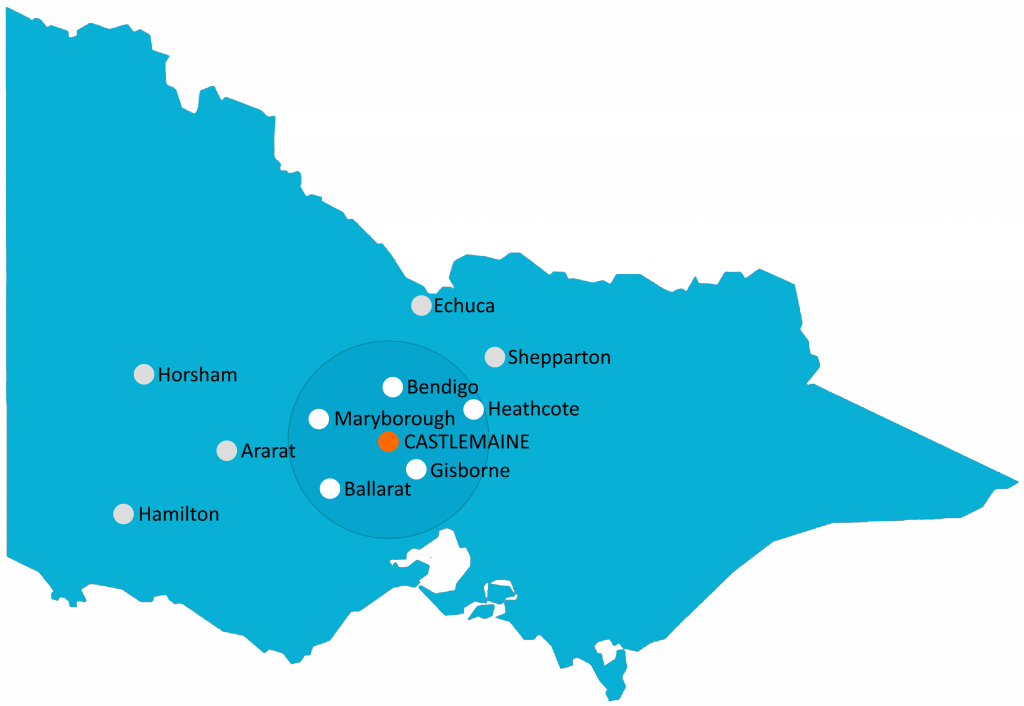 Area of service - Castlemaine, Maryborough and Ballarat